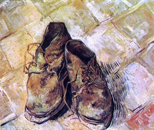 (Art Oyster Vincent Van Gogh A Pair of Shoes - 16.1