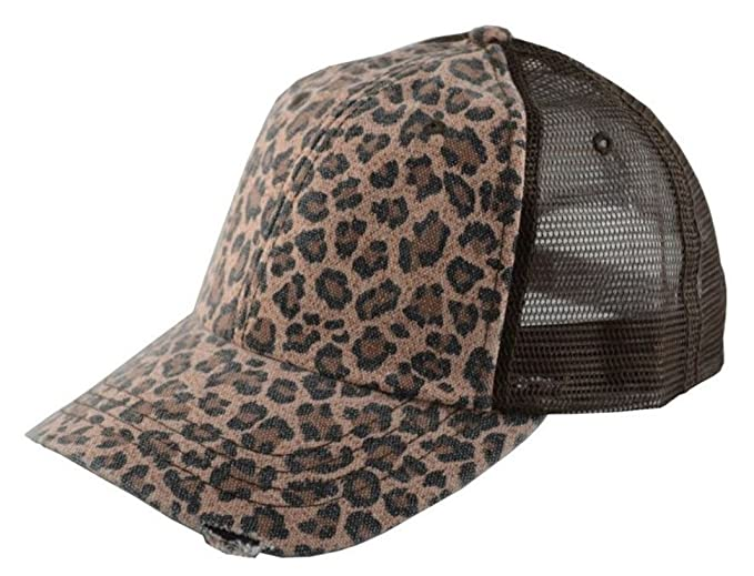 e7de43b23c675 Image Unavailable. Image not available for. Color  G Women s Low Profile  Soft Structured Canvas Leopard Trucker Cap Brown