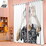 SeptSonne 2 Panel Set Digital Printed Window Curtains double exposure of man using the virtual reality headset for Bedroom Living Room Dining Room(W52 x L63 Pair) Review