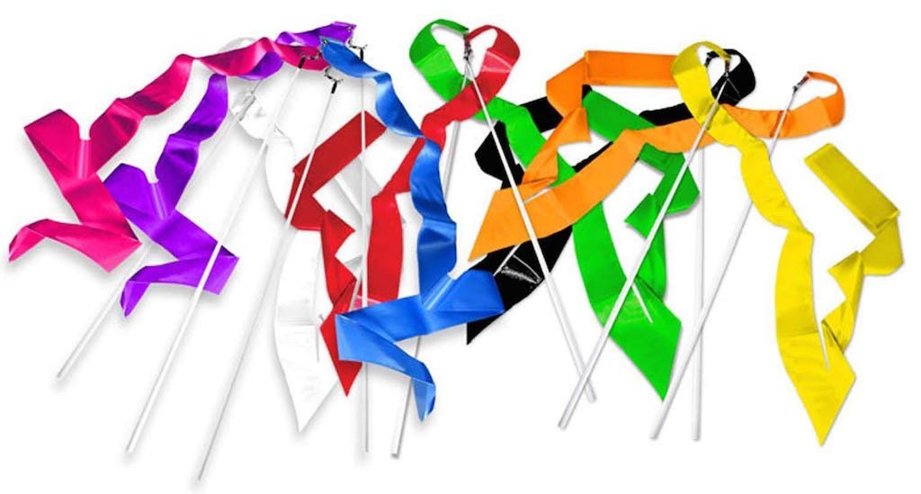 Cannon Sports Olympic Style 5m Gymnastics Ribbon Wands - Black, Blue, Green, Orange, Pink, Purple, Red, Yellow by Cannon Sports (Image #3)
