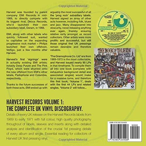 The Complete Harvest UK Vinyl Discography Volume 1