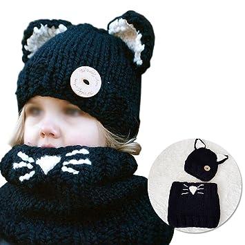 cdb3833906db Enfant Bonnet pour Bébé Filles Garçons Mignon Chapeau avec Oreilles de  Chaton, Vandot 2 en