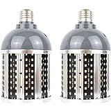 Intpro 40W LED Light Bulb 2 Pack 4500LM E26/E27 5000K Super Bright Light Lamp 85V~265V for Indoor Large Area, Garage barn Wor