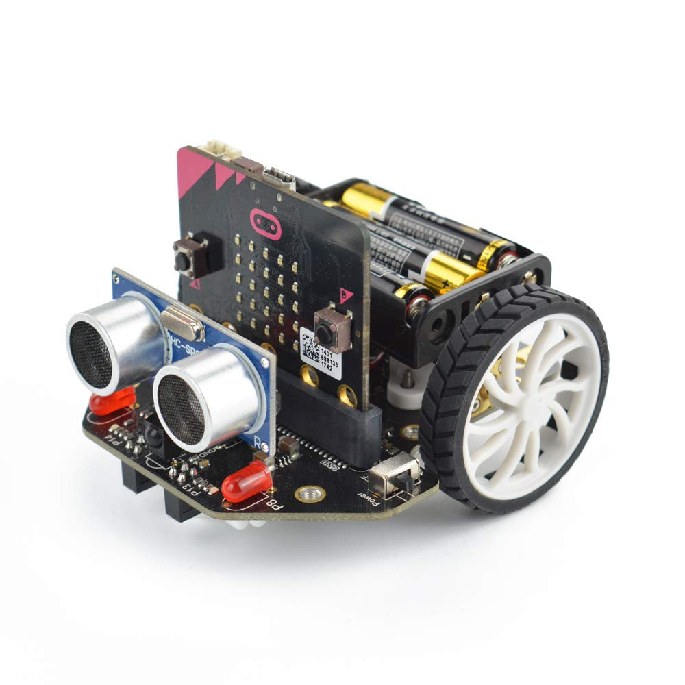 DFROBOT Micro: Maqueen Micro:bit Robot Platform - Graphical Programming Educational Robot Car for Kids - STEM Learning DIY Mini Robot Kit for Maker Education by DFROBOT (Image #2)