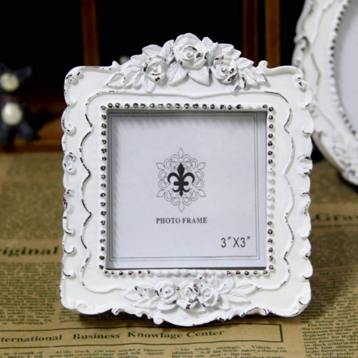AMHOME Picture Frame 3x3 Square European Style Resin and Wood Frame Creativity Design by AMHOME