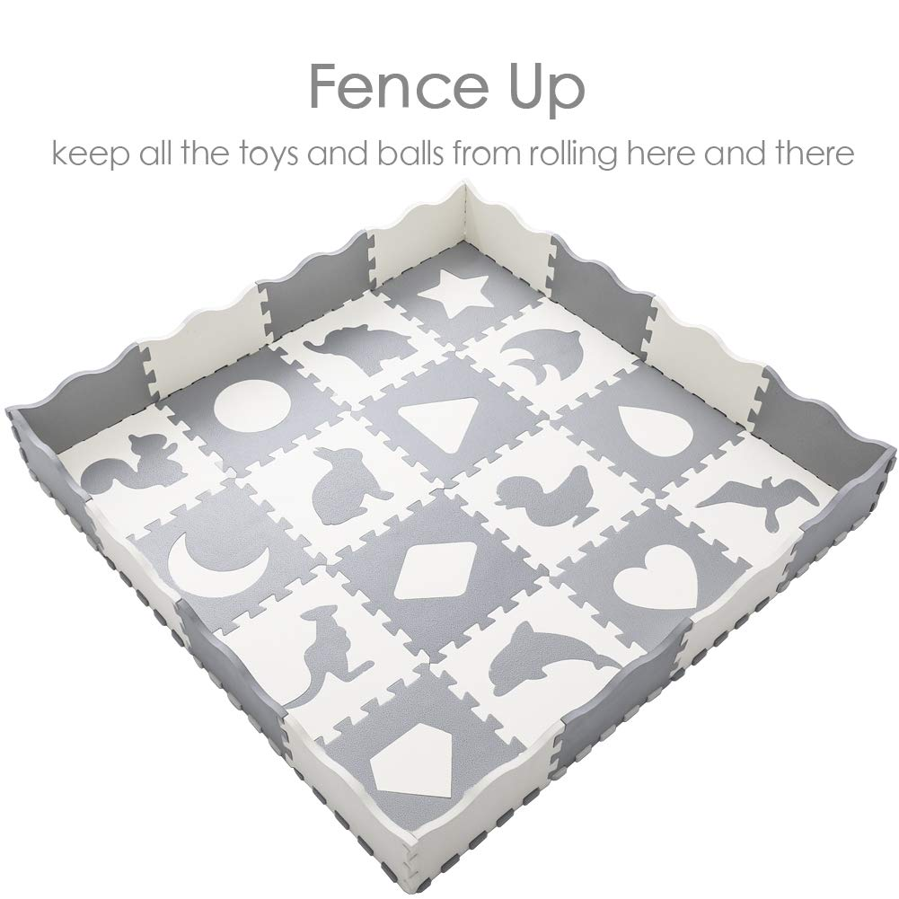 Baby Play Mat With Fence Superjare Thick 0 56