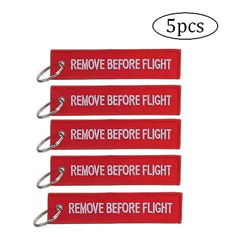 5 piezas de Quite antes del vuelo llavero de la etiqueta del ...