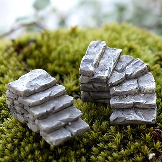 Whiie891203 miniatura de jardín de hadas, 2 unidades, miniatura, de resina, para jardín, escaleras, escaleras, escaleras, paisaje, adorno – 2 unidades, 2 unidades.: Amazon.es: Jardín