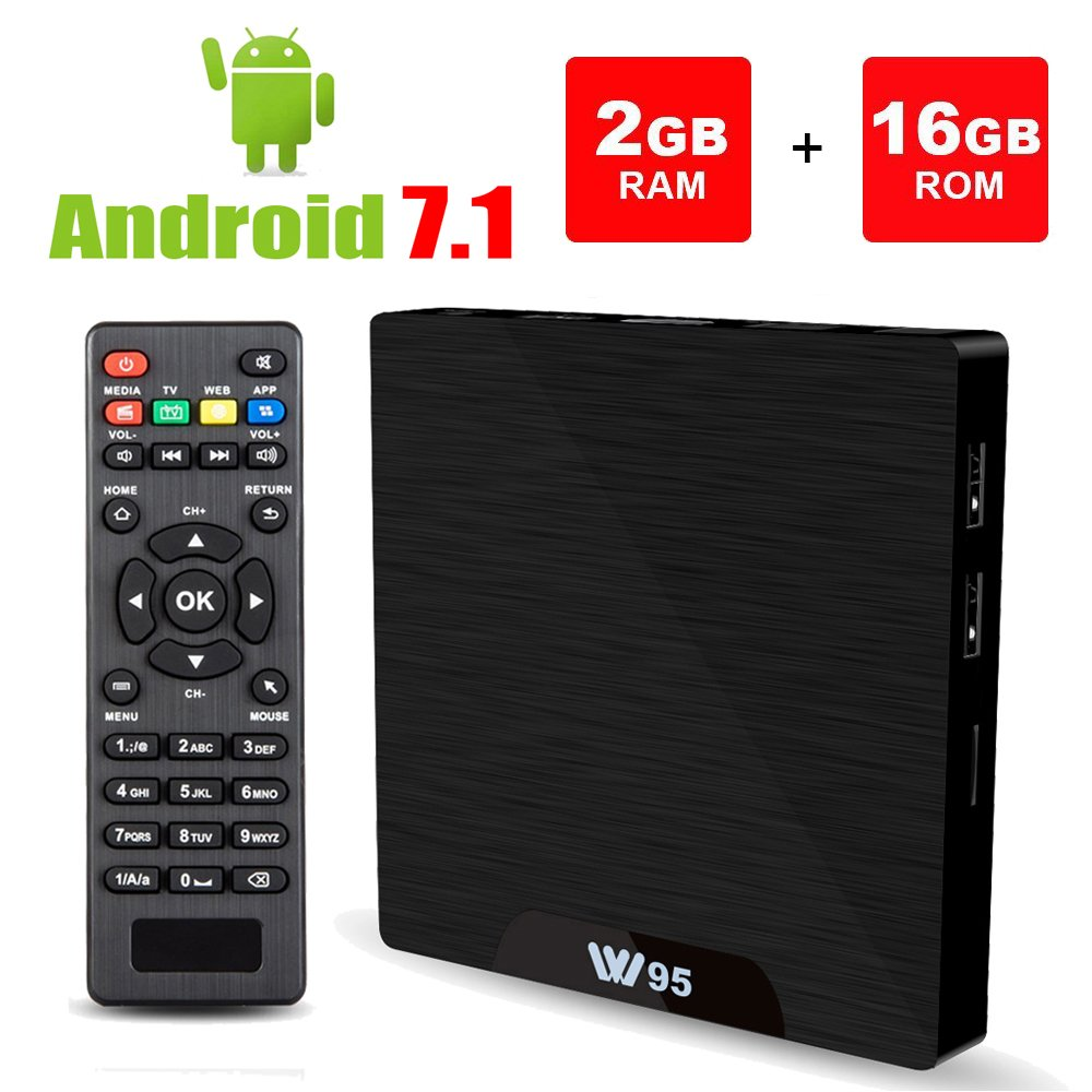 Android 7.1 Smart TV Box - Viden W95 2018 New Generation Android TV Box with Amlogic S905W 64Bits Quad-Core, 2GB+16GB, Built-in Wi-Fi, HDMI Output, USB2, 4K UHD Web TV Box by VIDEN