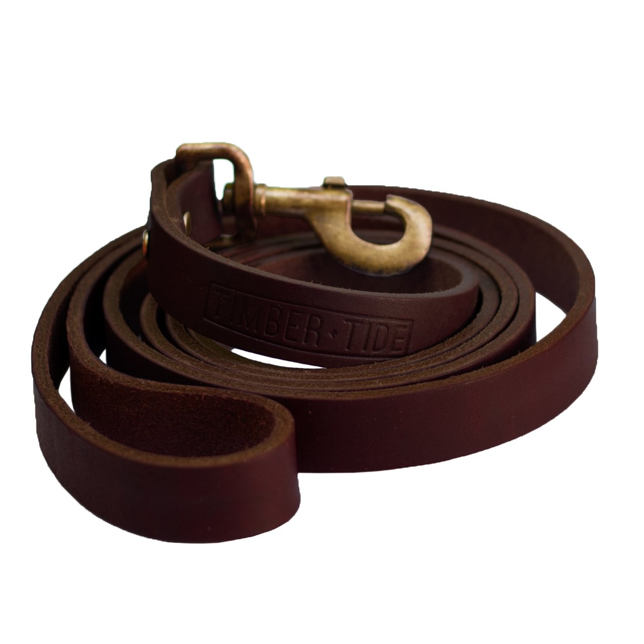 Timber and Tide Outdoor Co - Premium Heavy Duty Leather Dog Leash - 6 Foot Long x Almost 1 Inch Wide - Soft and Extra Strong Full Grain Leather - Great for Large and Medium Dogs by Timber & Tide Outdoor Co.