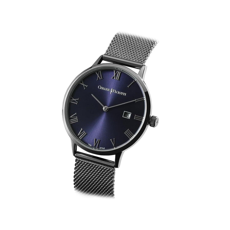 Uhr Cesare Paciotti Herren 38 mm tsst116 nur Zeit Armband Stahl Trikot Milano
