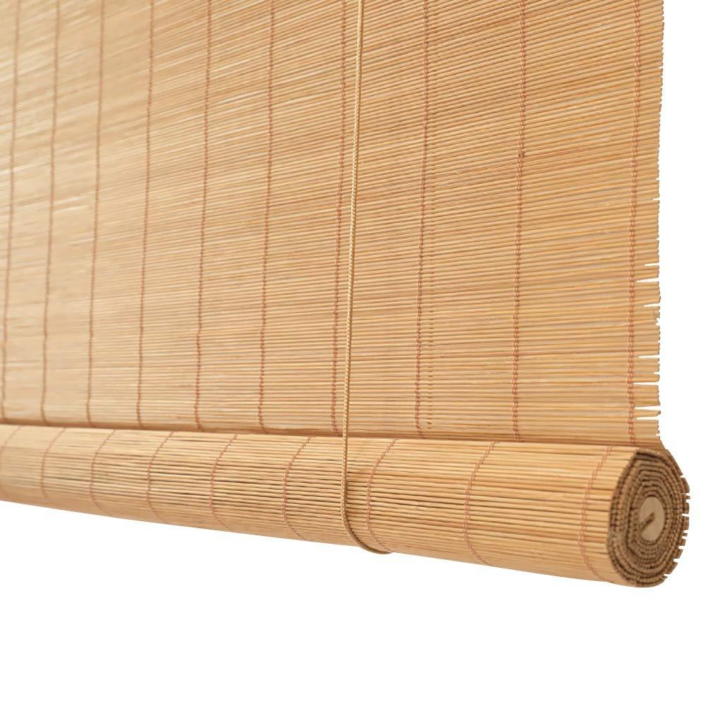 ブラインド バルコニー用ブラインド竹製シェードシェーディング、オフィス、マルチサイズ、カスタマイズ可能、竹本色 (色 : Hook up, サイズ さいず : 120x200cm) 120x200cm Hook up B07QBXKC2X