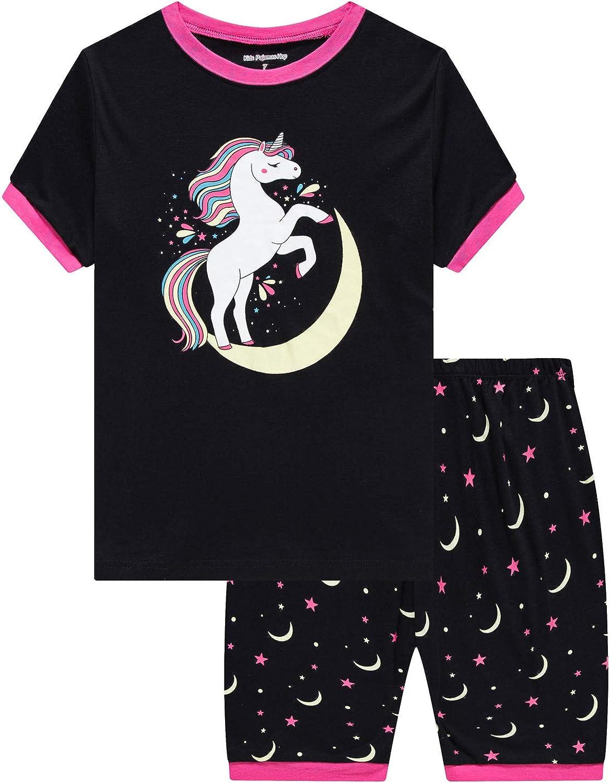 Little and Big Girls Pajamas 100% Cotton Pjs Set Kids Clothes Sleepwear Toddlers