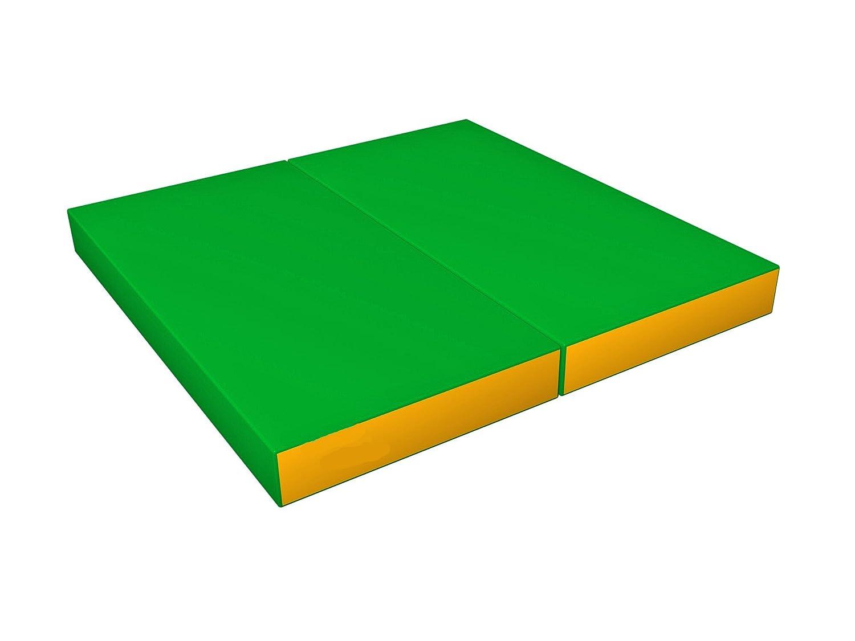 46e49480ea61d0 Tapis de Gym Epais Sport Large Souple Pliable Antidérapant Vert Jaune pour  Enfant - 100x100x10