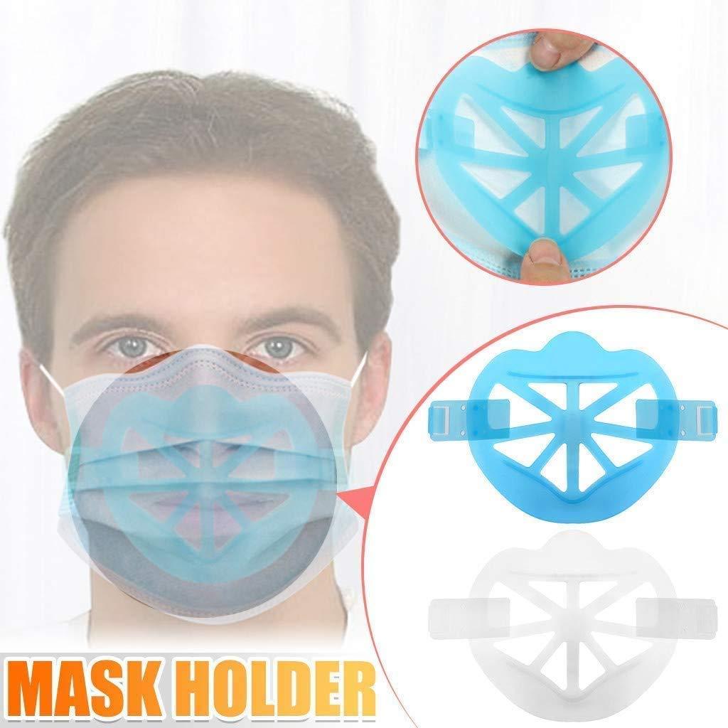 soporte de la m/áscara 3D soporte de protecci/ón antiadherente de los labios para el hogar y el exterior soporte de la m/áscara Soporte de silicona 3D 5PCS para llevar la m/áscara c/ómodamente