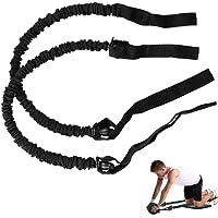 Surplex 1 par ab rullhjul dragrep motståndsband tränare buken bantning fitnessutrustning extra dragbälte