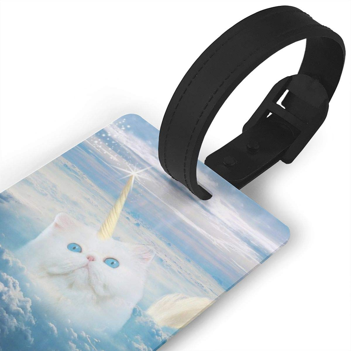 Caticorn Funny Cat Luggage Tags Bag Travel Labels For Baggage Suitcase