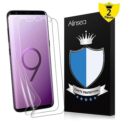 Alinsea Galaxy S9 Plus Protection écran,Protection écran[Couverture Full HD] Ultra Mince