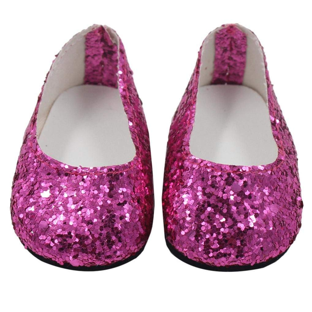 Fashion Purple Dancing shoes for 18inch American girl doll party