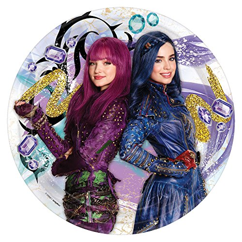 Amscan Round Plates | Disney Descendants 2 Collection | Party Accessory ()
