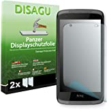 HTC Desire 526G Dual Sim Displayschutzfolie - 2 x Disagu Panzerfolie für HTC Desire 526G Dual Sim Bruchschutzfolie