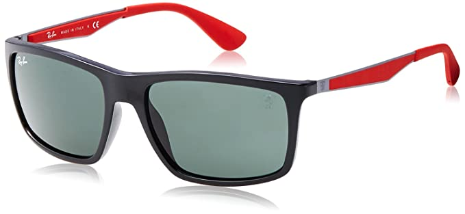 4b2c1cbdff943 Ray-Ban Men s 0rb4228mf602h258plastic Man Polarized Iridium Rectangular  Sunglasses
