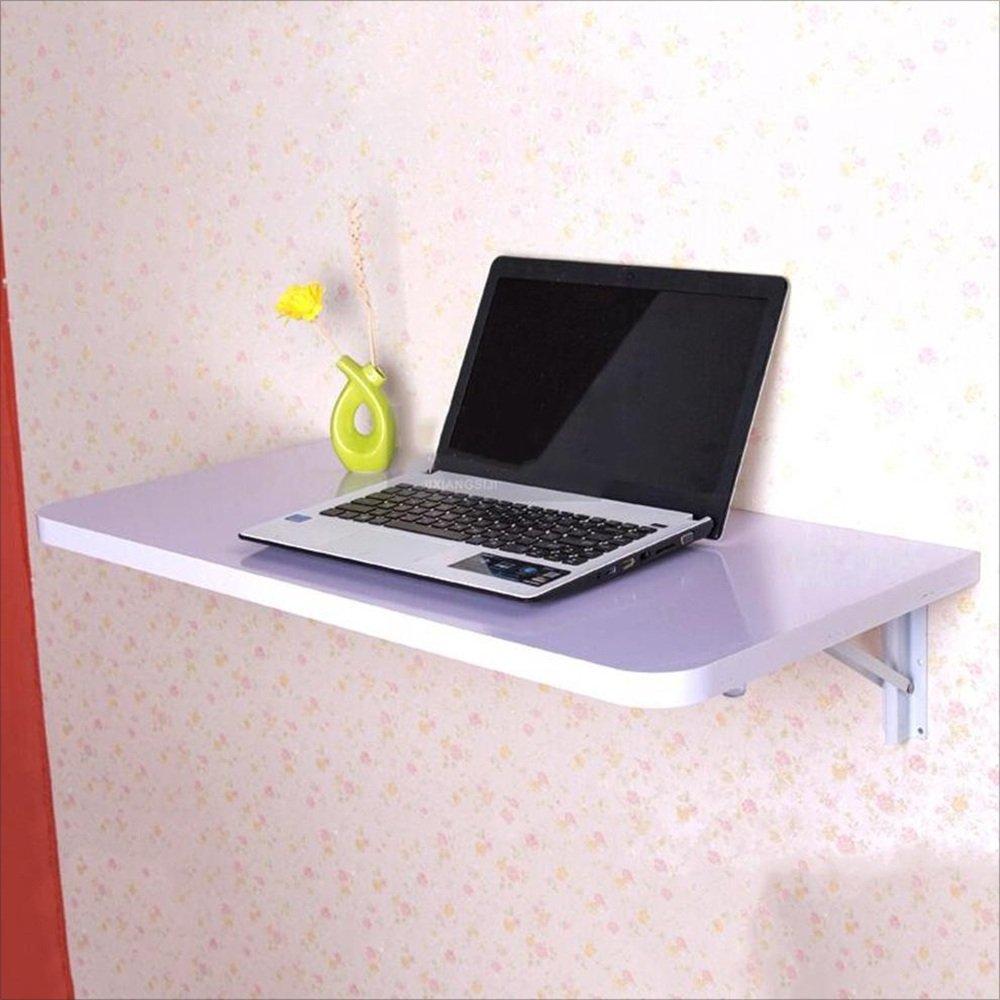 YNN 折りたたみテーブル、壁掛けテーブル、壁掛け式落書きテーブルデスク、木製キッチンダイニングテーブルデスク6色 (色 : 白, サイズ さいず : L80*W40) B07DS5RPDX L80*W40|白 白 L80*W40