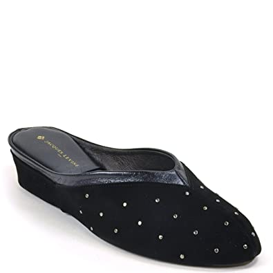 356562ce532b85 Jacques Levine  4640 Studded Suede Slipper 5M