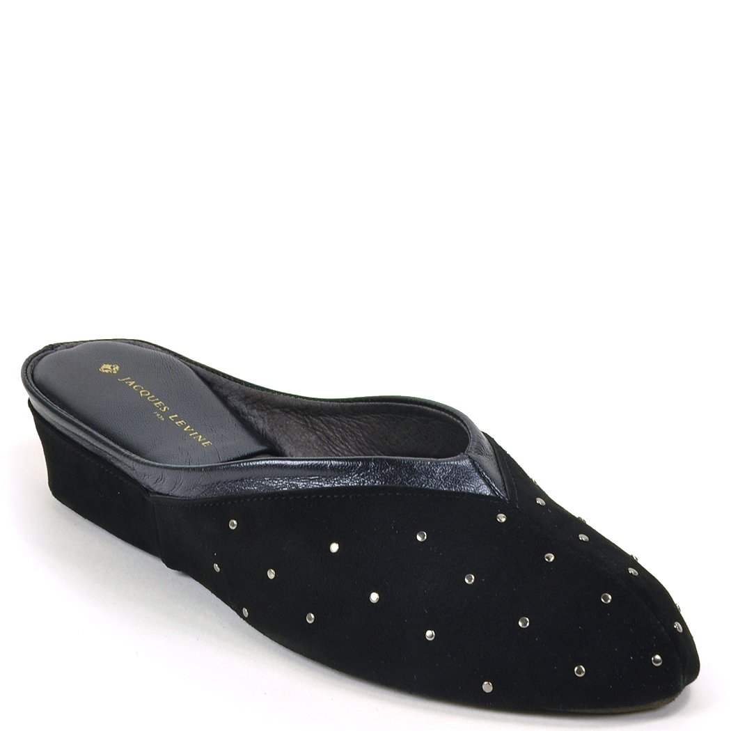 Jacques Levine #4640 Studded Suede Slipper 9B