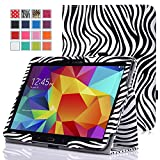 MoKo Samsung Galaxy Tab 3 10.1 and Galaxy Tab 4 10.1 Case - Slim Folding Cover Case for Samsung Galaxy Tab 3 10.1 and Tab 4 10.1 Inch Android Tablet, Zebra BLACK (With Smart Cover Auto Wake / Sleep)