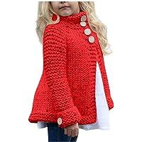 Qiran Suéter Bebé Cardigan Niños Niña Punto Suéter Lindo Algodón Manga Larga Bolsillo Suelto Sudaderas Suéter Sólido…