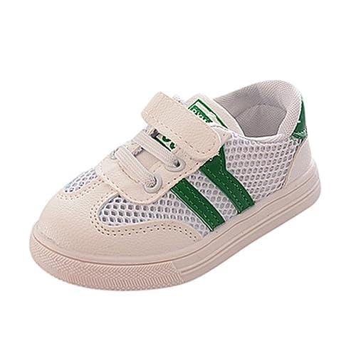 Zapatillas para Bebéss Niñas Zapatillas Niño Malla Zapatillas para Bebés Soft Soled Sneakers de Rayas Zapatos