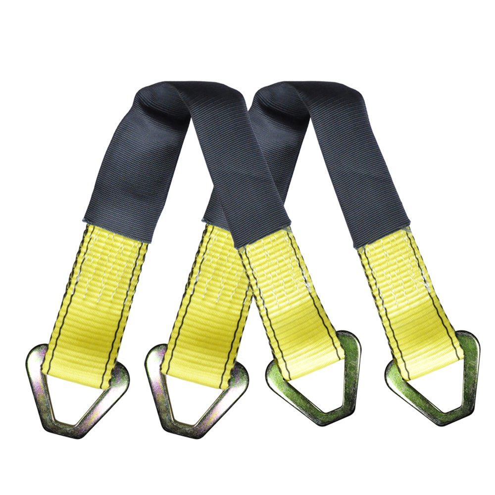 Robbor Axle Straps-4 Pk 24x 2 Premium Car Axle Straps with D-Ring and Protective Sleeve 10,000 lb.Breaking Strength 3.333 lb.Working Load Idea for Low Clearance Applications