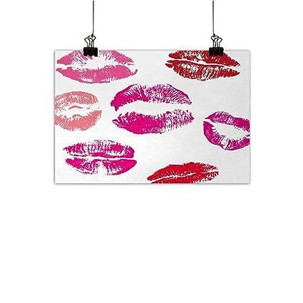 Amazon Com Anzhutwelve Kiss Abstract Painting Grunge