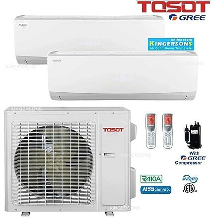 Amazon com: TOSOT GREE Dual Zone Split AIR Conditioner