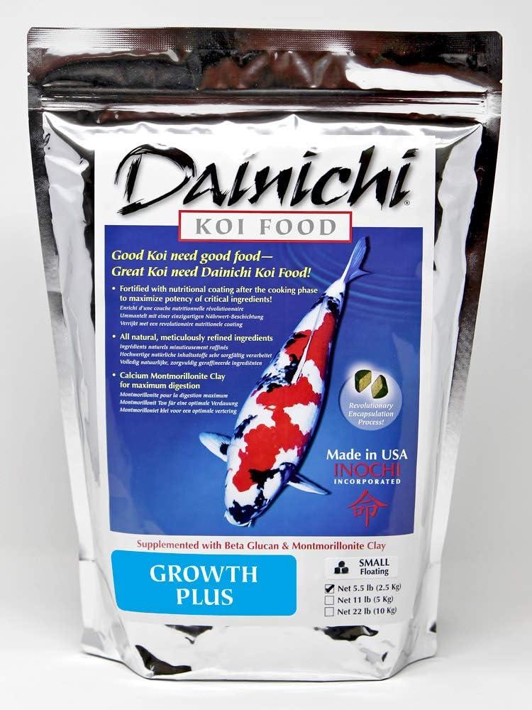 Dainichi Koi Food, Growth Plus, Small Floating (3.5 mm), 5.5 lb
