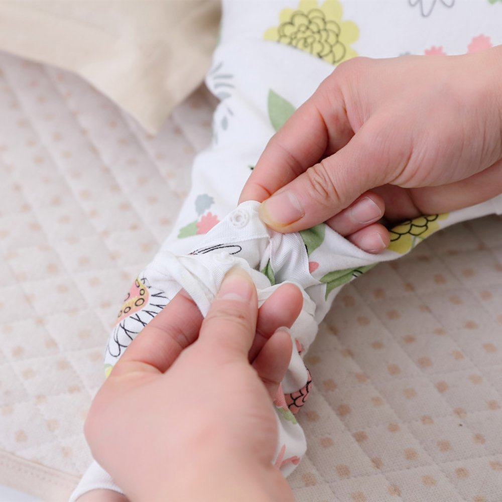 Floral Detachable Sleeve Organic Cotton Baby Sleep Bag Sack Wearable Blanket M by The morning (Image #2)