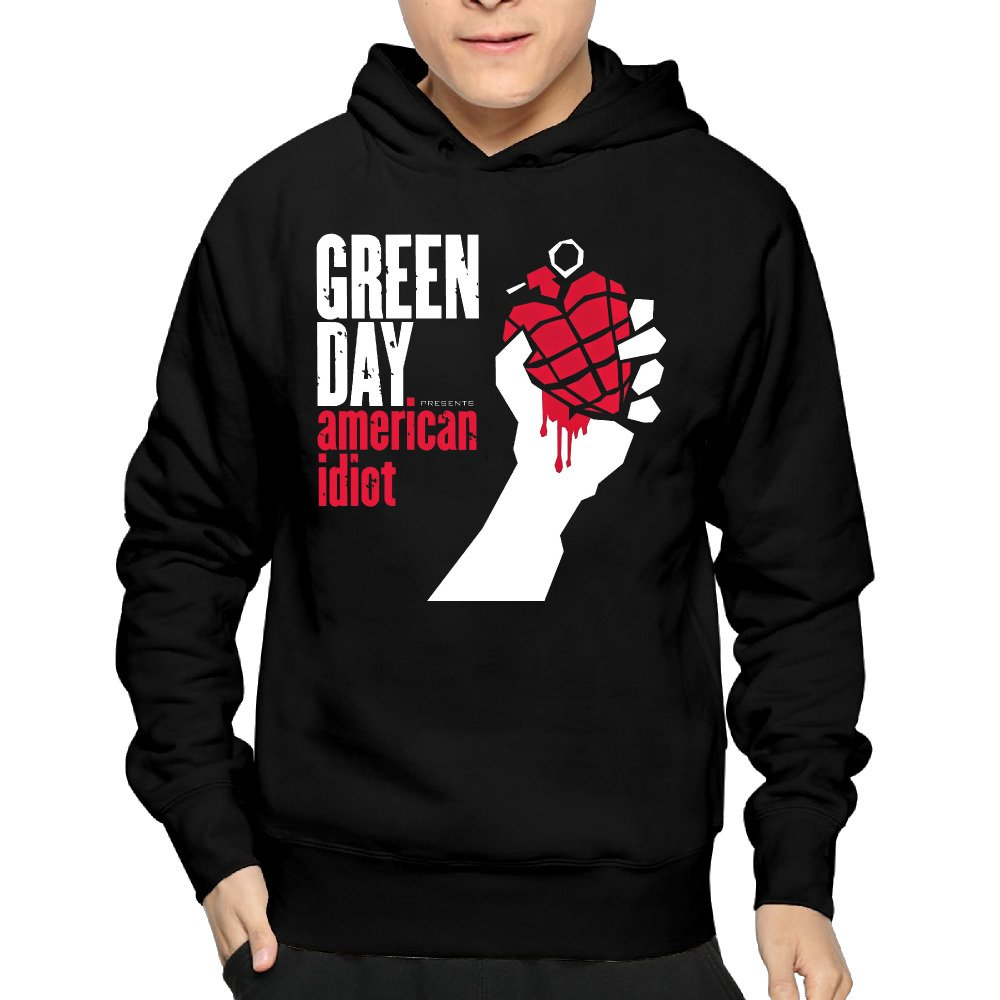 Green Day Rock Band American Idiot Cover Men Pullover Pullover