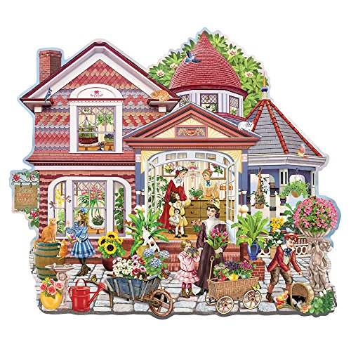 Bits and Pieces-Rose's Blossom Cottage - 750 Piece Shaped Jigsaw Puzzle