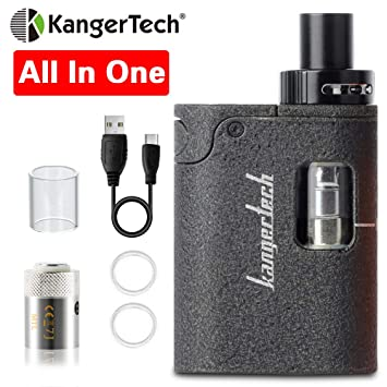 E Cigarettes Portable Starter Kit, Kangertech Togo Mini 2 0 All in One  Built in 1600mah Battery Box Mod, E Cigarette Atomizer with CLOCC Coil£¬Top