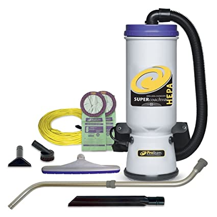 ProTeam Backpack Vacuums, Super CoachVac Commercial Backpack Vacuum Cleaner  With HEPA Media Filtration And Telescoping