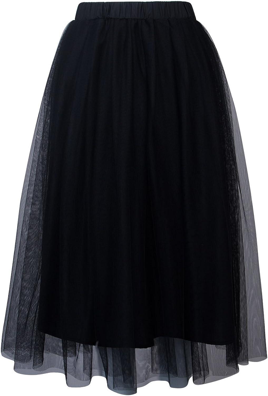 Tulle midi length white skirt White ballerina organza skirt Under skirt 3014