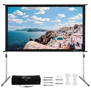 Amazon.com: ShowMaven - Pantalla para proyector con soporte ...