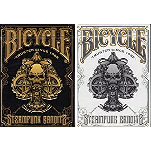 Steampunk Bandits 2 Deck Set Bicycle Playing Cards Poker Size Deck USPCC Limited
