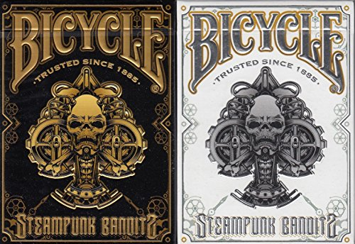 Steampunk Bandits 2 Deck Set Bicycle Playing Cards Poker Size Deck USPCC Limited 3