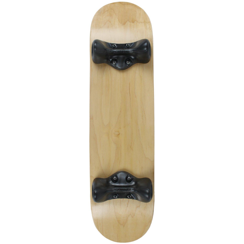 Softrucksスケートボード屋内練習コンプリート8インチデッキ、ブラックトラック付き、ナチュラル   B076FJFMRB