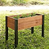 Coral Coast Coral Coast Wood Elevated Garden Bed – 40L x 20D x 29H in., Wood For Sale