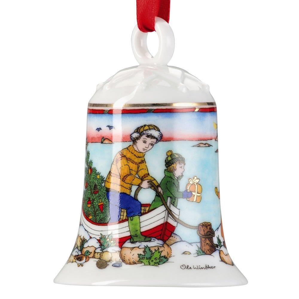Hutschenreuther 02250-722816-27920, Campanella natalizia in porcellana, 8 x 15 x 12 cm, Multicolore (Bunt)