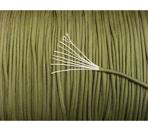 (5col 550 Type 3 Parachute Paracord in Olive Drab - MIL-C-5040H & PIA-C-5040 (50 Feet))