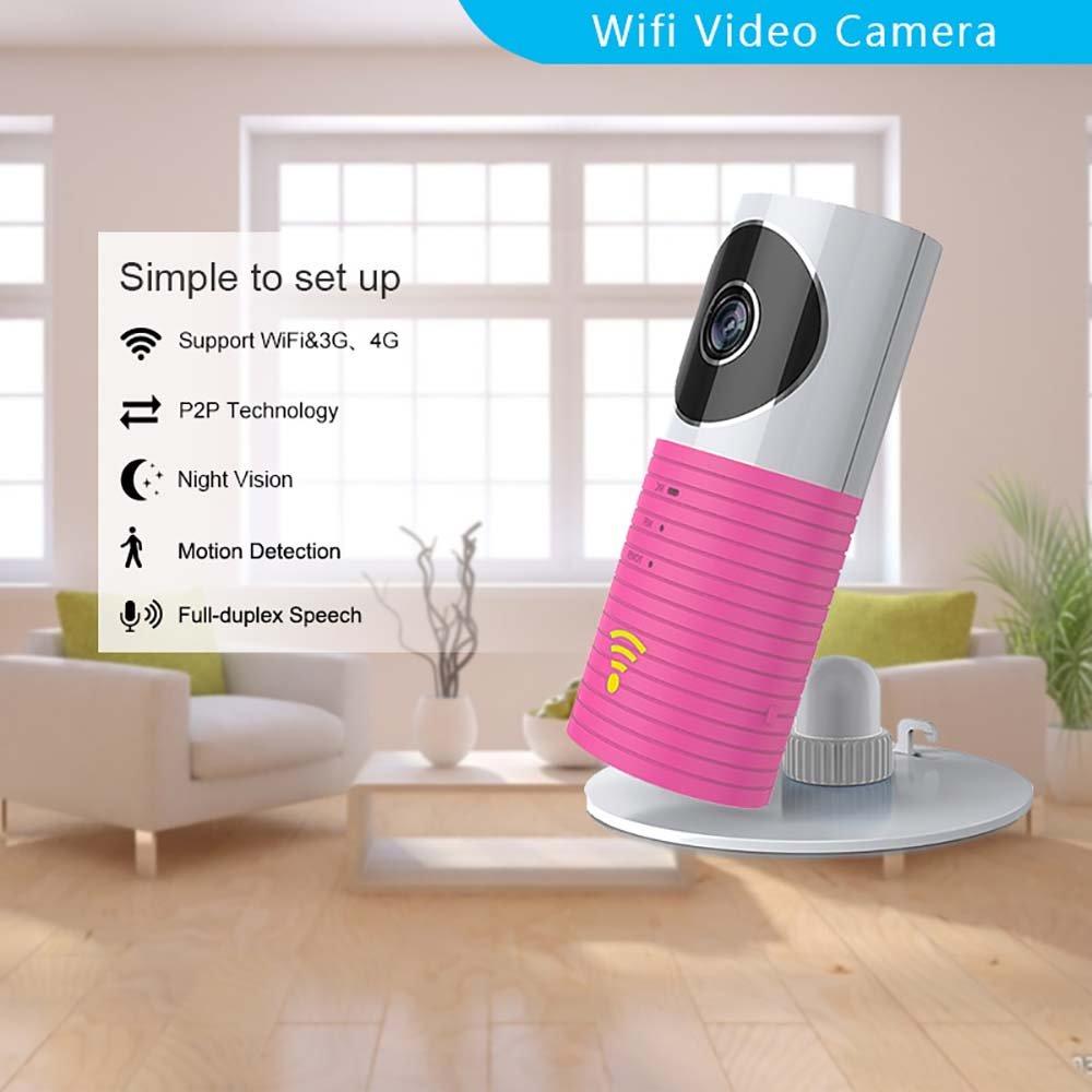 Clever dog Telecamere wifi di sicurezza wireless home sicurezza Telecamere Voce a due vie, visione notturna(Blu) CYLAN DOG-1W